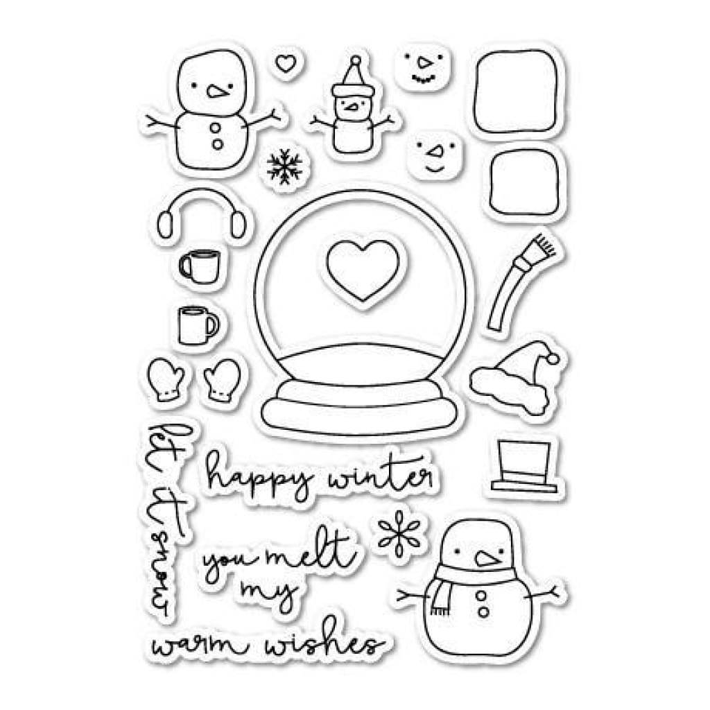 Poppystamps Clear Stamp Sets  - You Melt My Heart