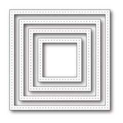 Poppystamps Die - Pointed Square Frames