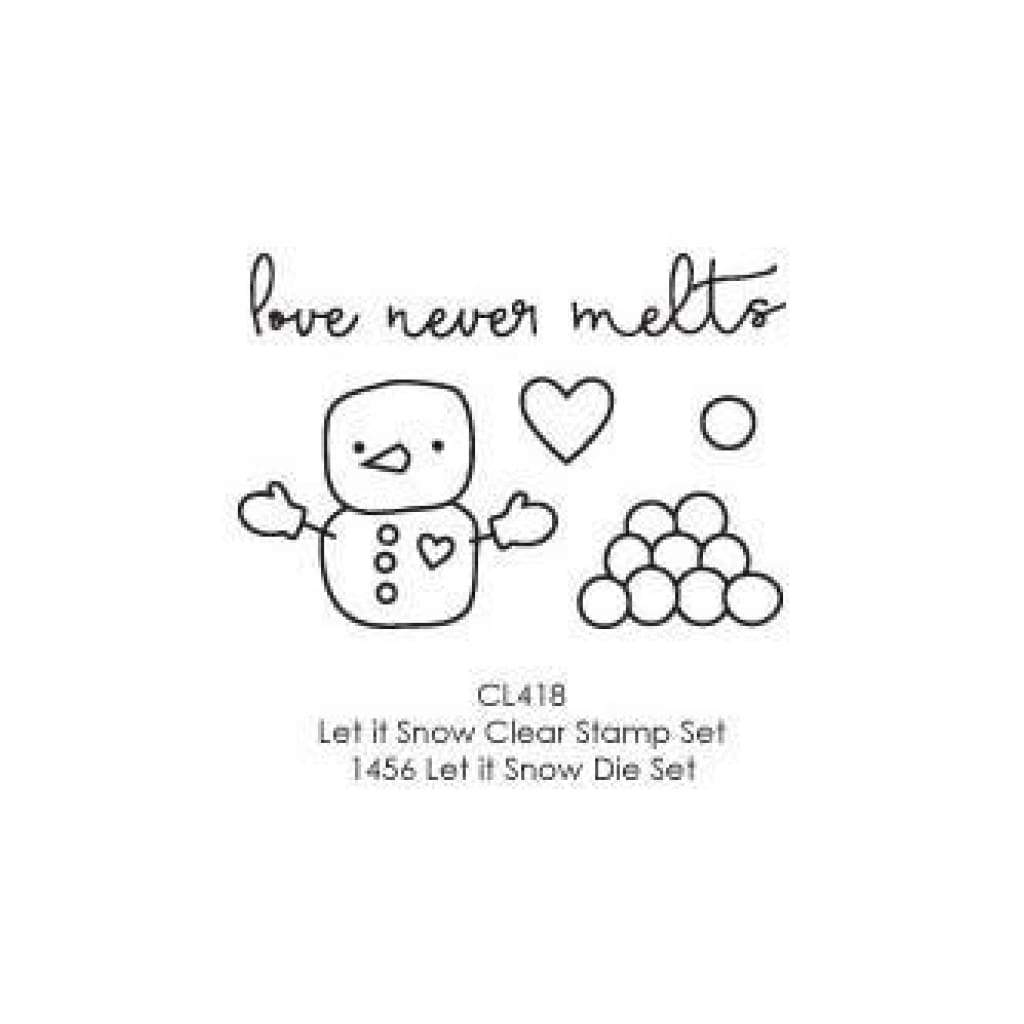 Poppystamps Stamp Sets  - Love Never Melts Clear Stamp Set