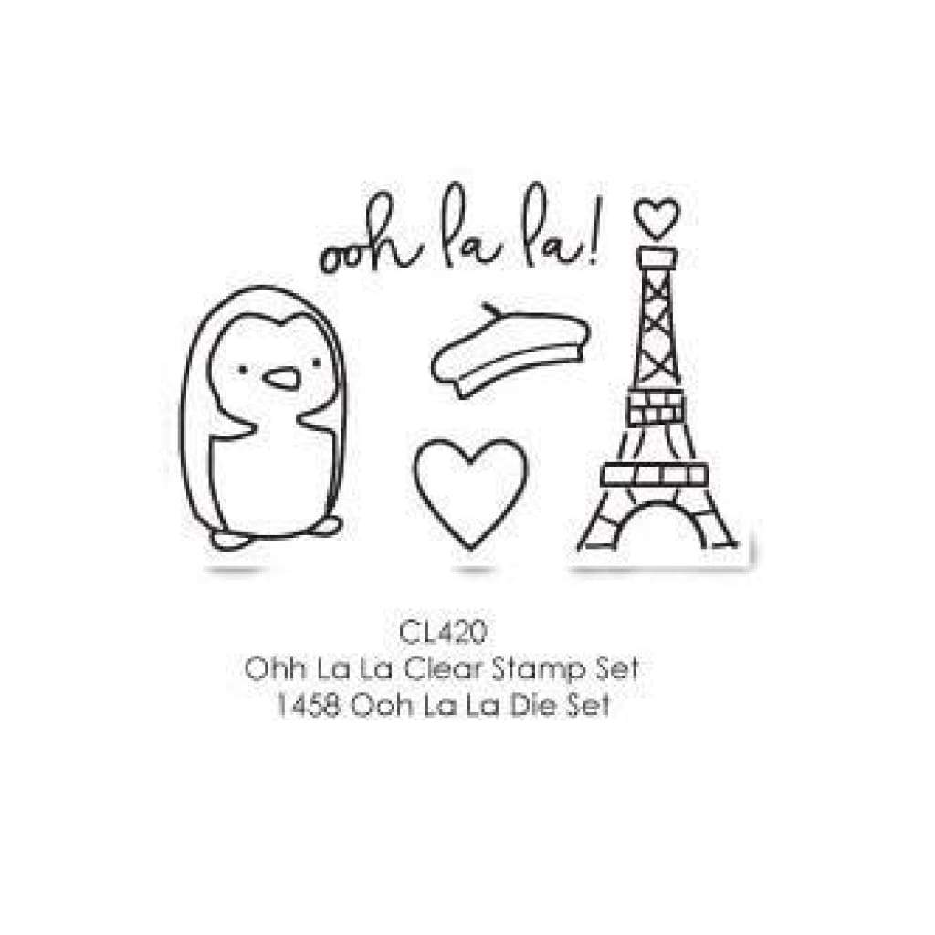 Poppystamps Stamp Sets  - Ooh La La Clear Stamp Set