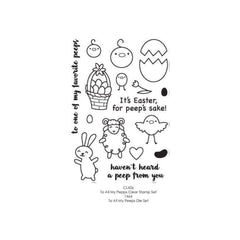 Poppystamps Stamp Sets  - To All My Peeps Clear Stamp Set