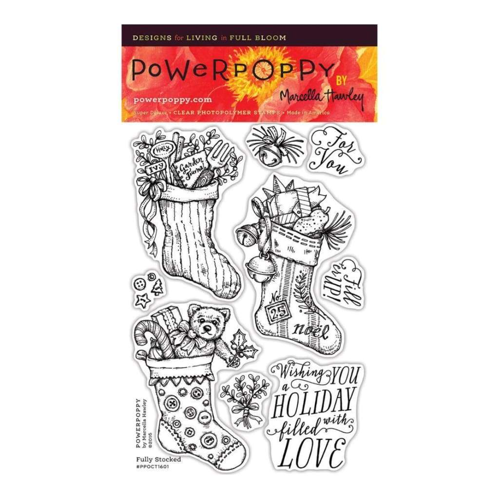 Power Poppy Clear Stamps 4 inch X6 inch Fully Stocked