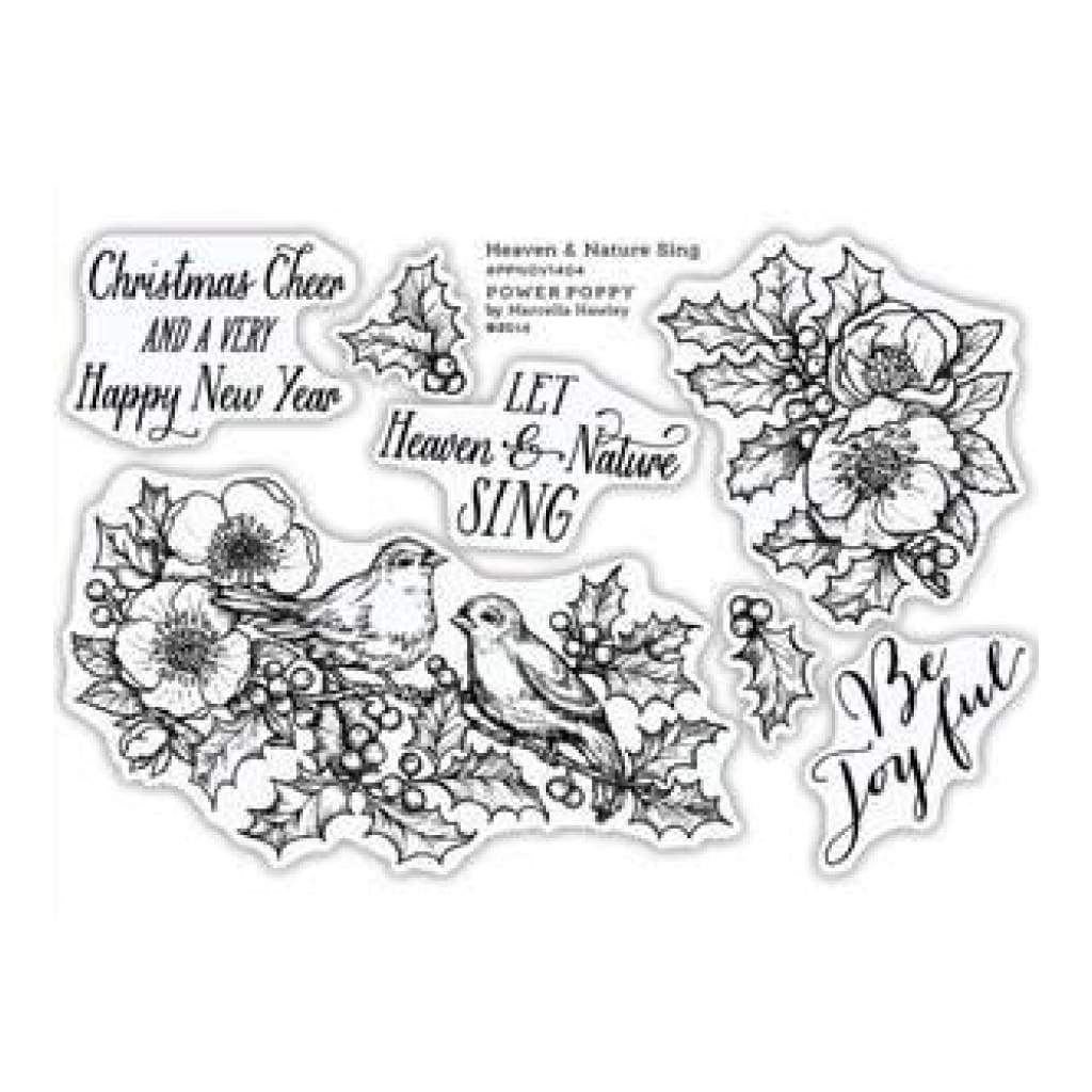 Power Poppy Clear Stamps 4 Inch X6 Inch Heaven & Nature Sing