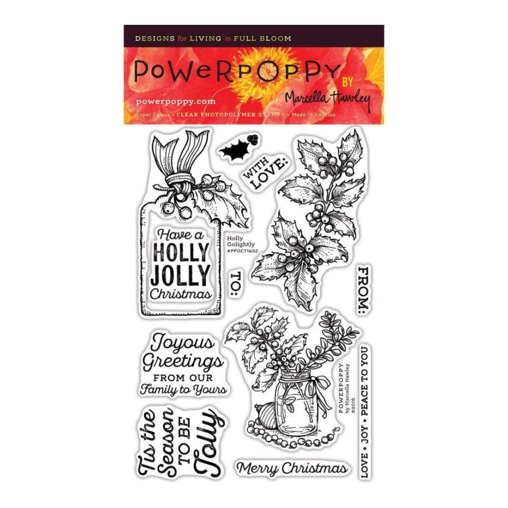 Power Poppy Clear Stamps 4 inch X6 inch Holly Golightly