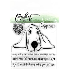 Picket Fence Studios - 4 inch X4 inch  Stamp Set Lucky Puppy