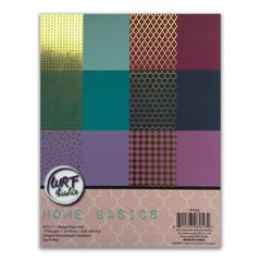 Poppy Crafts - 8.5x11in Design Paper Pad - Home Basics