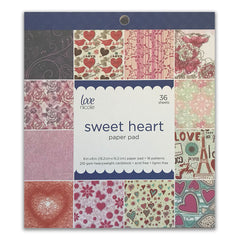 Poppy Crafts - 6x6in Paper Pad - Sweet Heart