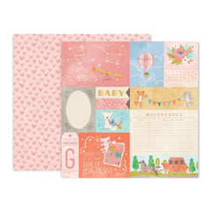 Pink Paislee - Little Adventurer Double-Sided Cardstock 12X12in No.1