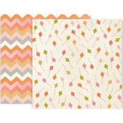 American Crafts Pink Paislee Little Adventurer Double-Sided Cardstock 12inch X12inch #3