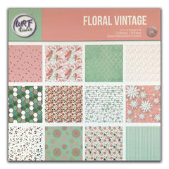 Poppy Crafts - 12x12in Paper Pad - Floral Vintage