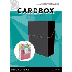 Photoplay - A2 Cardbox with 3 Cards & Envelopes - Black