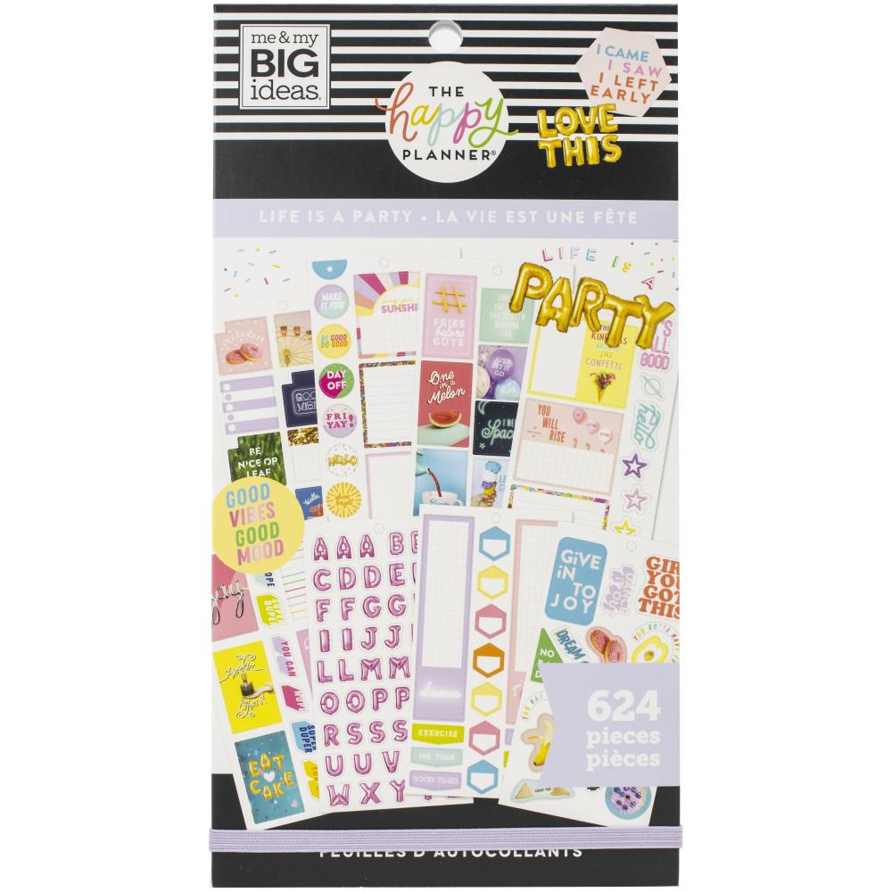 Happy Planner Sticker Value Pack - Life Is A Party