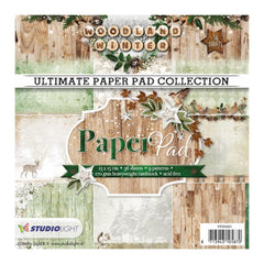 Studio Light Paper Pad 6inch X6inch 36 pack Woodland Winter, 9 Designs/4 Each