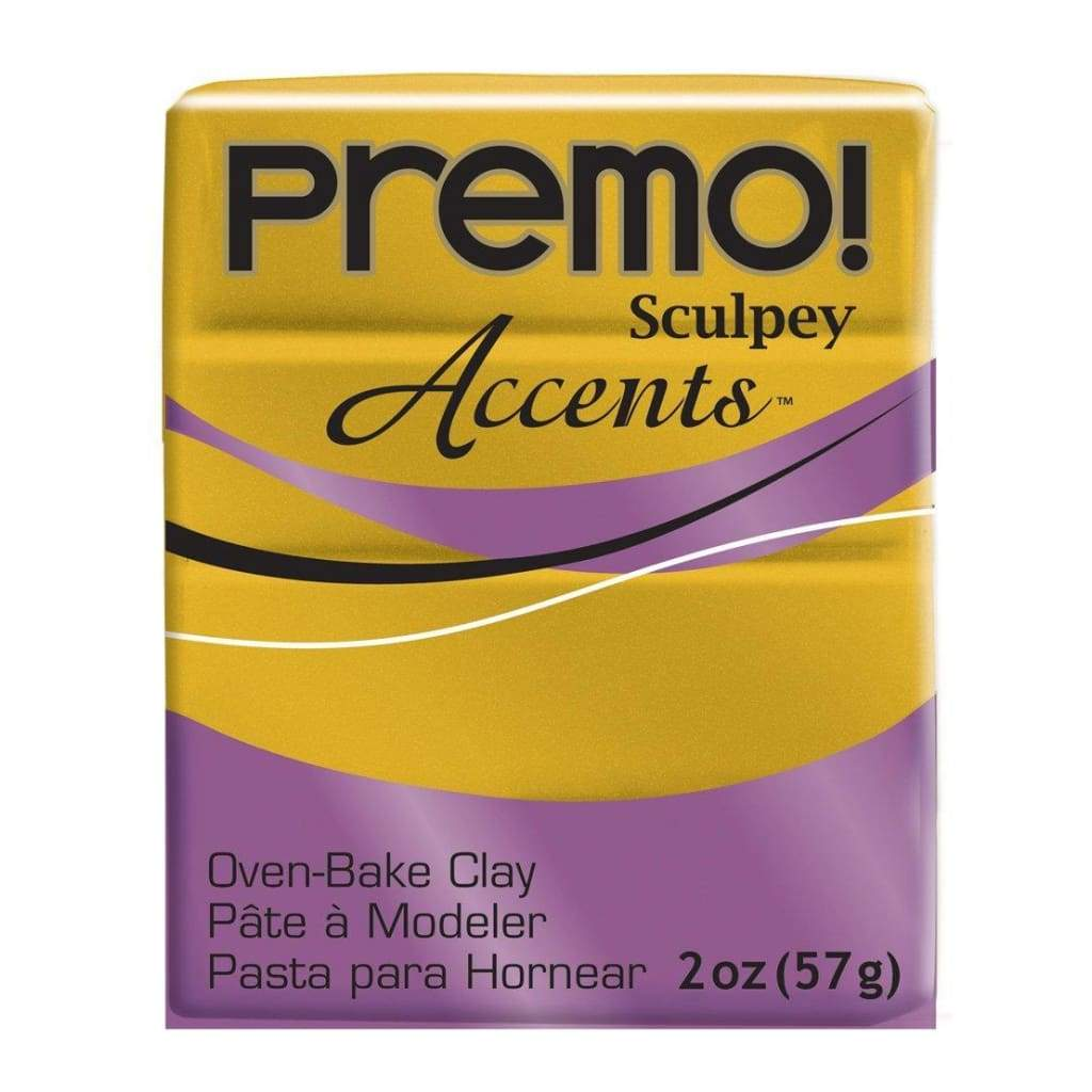 Premo Sculpey Accents Polymer Clay 2oz - Antique Gold