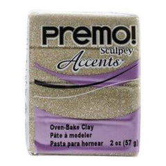 Premo Sculpey Accents Polymer Clay 2oz - Yellow Gold Glitter