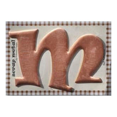 Pressed Petals - Letter M - Large - Copper