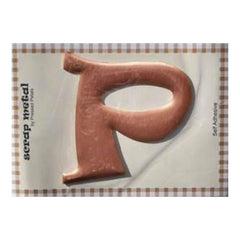 Pressed Petals - Letter P - Large - Copper