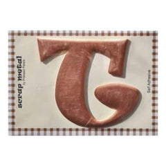Pressed Petals - Letter T - Large - Copper