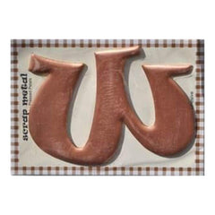 Pressed Petals - Letter W - Large - Copper
