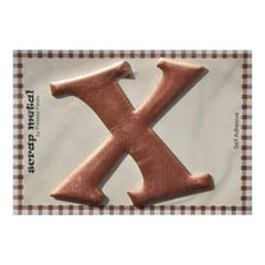 Pressed Petals - Letter X - Large - Copper