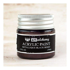 Prima - Finnabair Art Alchemy - Metallique Acrylic Paint - Black Berry