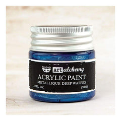 Prima - Finnabair Art Alchemy - Metallique Acrylic Paint - Deep Waters