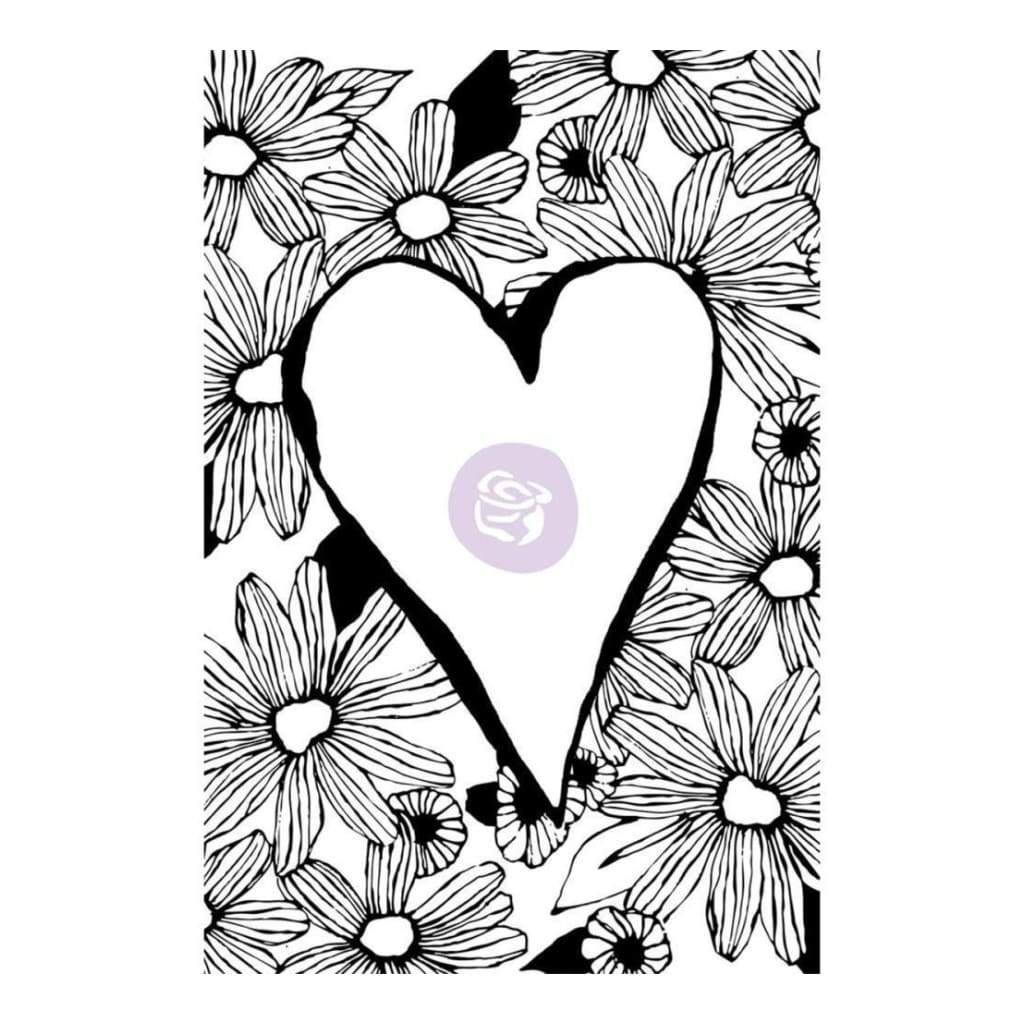 Prima Marketing - Christine Adolf Cling Rubber Stamps - Daisy Love
