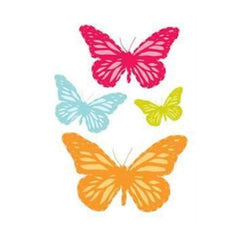 Prima Marketing - Donna Downey - Flocked Iron Ons Butterflies