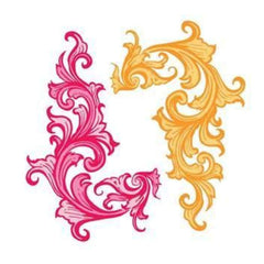 Prima Marketing - Donna Downey - Flocked Iron Ons Swirls