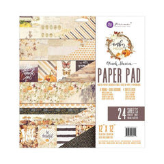 Prima Marketing Double-Sided Paper Pad 12 inch X12 inch 24 pack Amber Moon; 6 Designs/4 Each