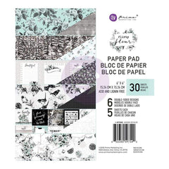Prima Marketing Double-Sided Paper Pad 6 inch X6 inch  30 pack Flirty Fleur, 6 Designs/5 Each