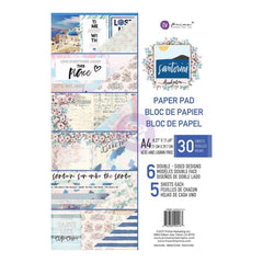 Prima Marketing Double-Sided Paper Pad A4 30 pack Santorini, 6 Designs/5 Each