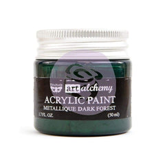Prima Marketing - Finnabair Art Alchemy Acrylic Paint 1.7 Fluid Ounces Metallique Dark Forest