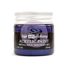 Prima Marketing - Finnabair Art Alchemy Acrylic Paint 1.7 Fluid Ounces Metallique Midnight Sky