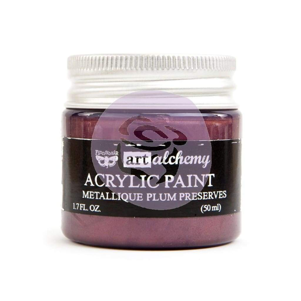 Prima Marketing - Finnabair Art Alchemy Acrylic Paint 1.7 Fluid Ounces Metallique Plum Preserves