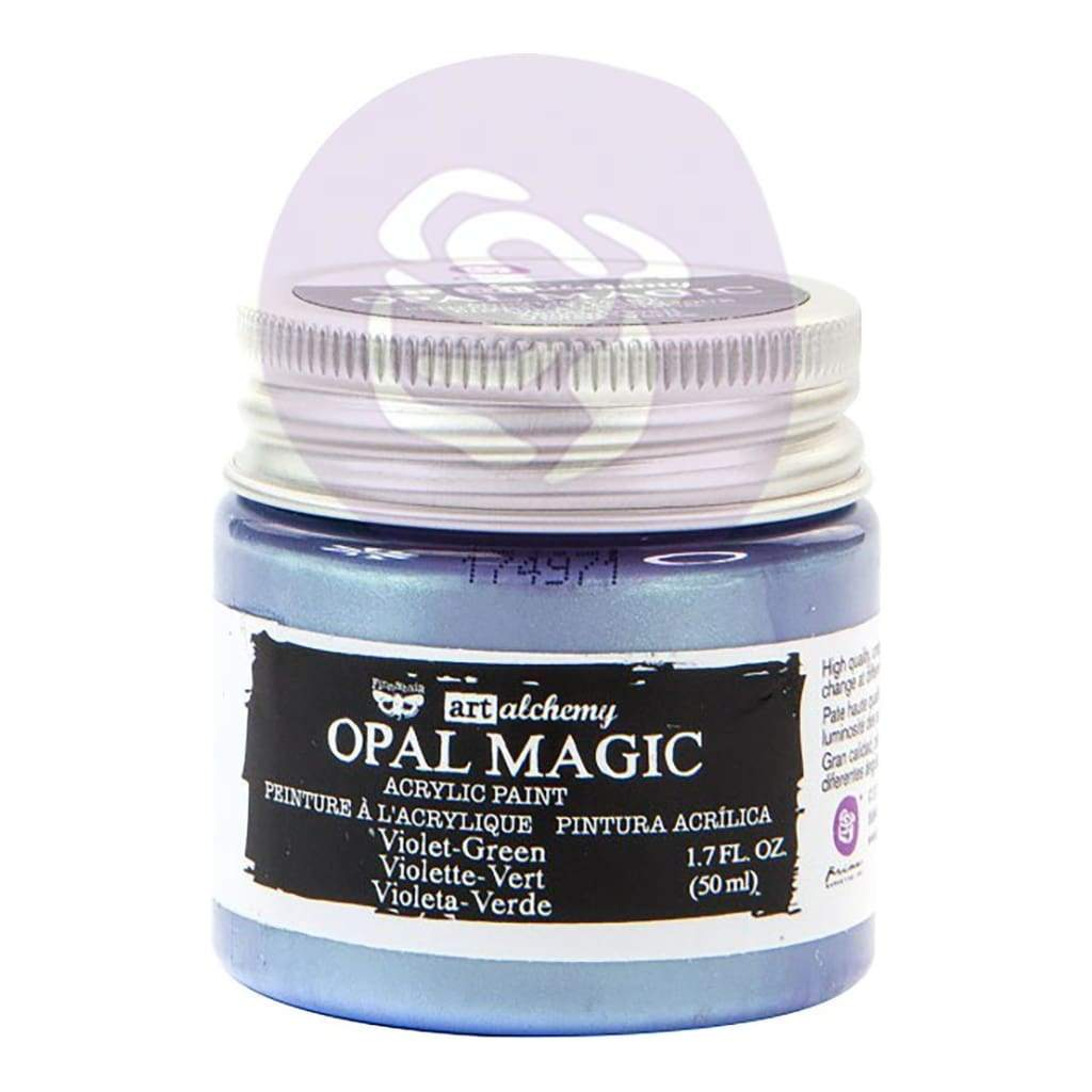 Prima Marketing Finnabair Art Alchemy Opal Magic Acrylic Paint 1.7 Fl Oz - Violet/Green