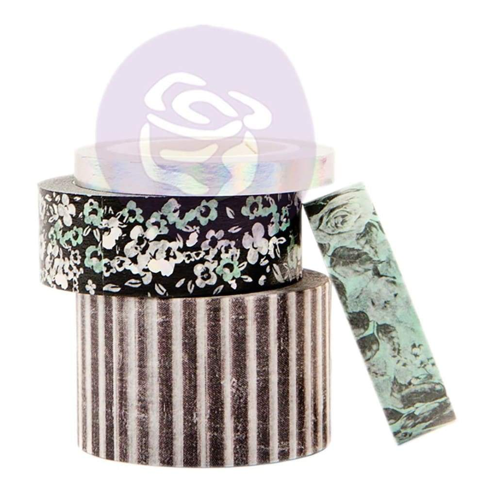 Prima Marketing Flirty Fleur Decorative Tape 4 pack  10mm To 25mm, 10 Yards Each