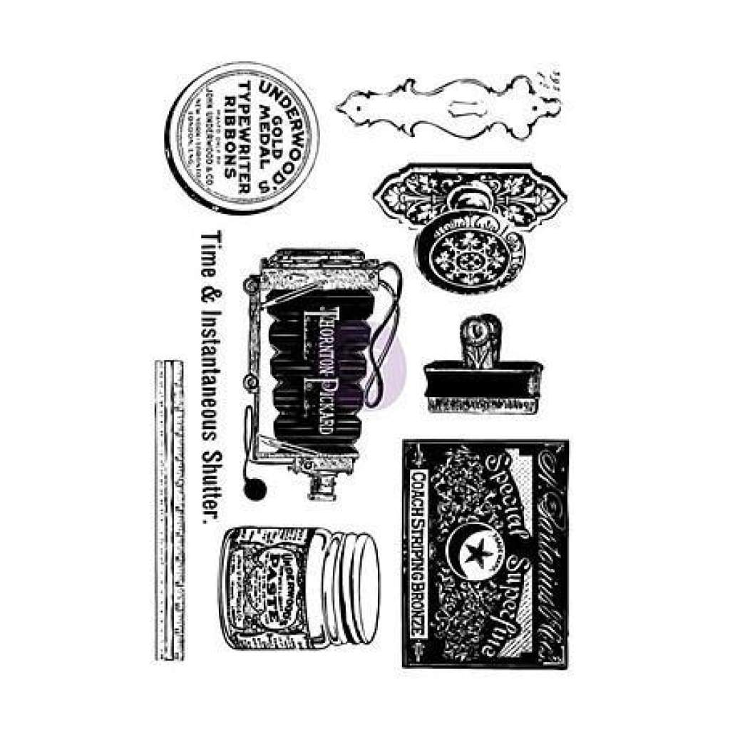 Prima Marketing - Iron Orchid Designs Cling Stamps 5 Inch X7 Inch  Curiosities
