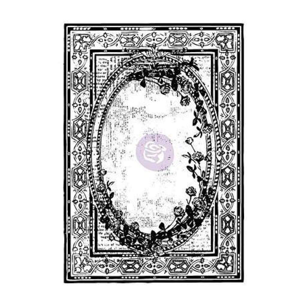 Prima Marketing - Iron Orchid Designs Cling Stamps 5 Inch X7 Inch  Ornate Frame