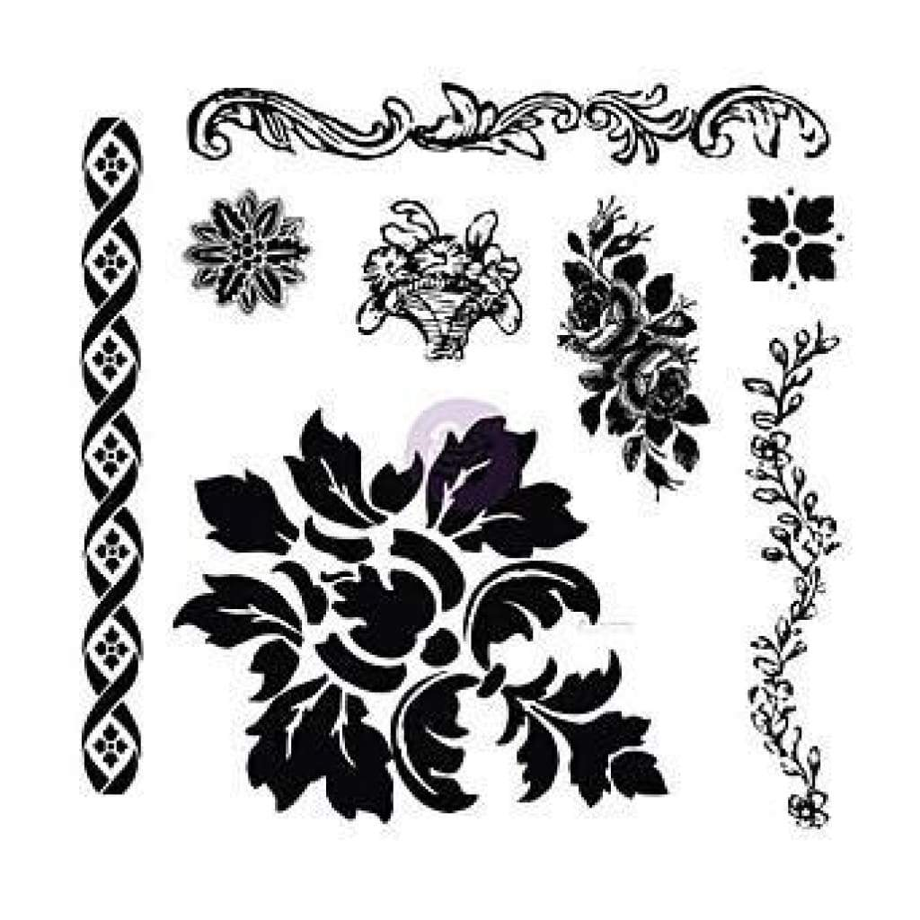 Prima Marketing - Iron Orchid Designs Decor Clear Stamps Fleur