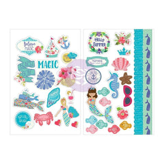 Prima Marketing - Julie Nutting Cardstock Stickers 5 inch X7 inch 2 pack Mermaid Kisses