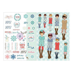 Prima Marketing - Julie Nutting Planner Monthly Stickers 2 pack - January