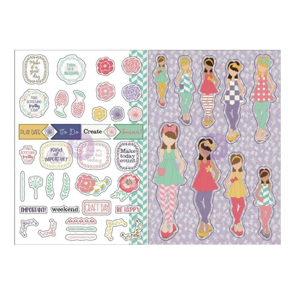 Prima Marketing - Julie Nutting Planner Monthly Stickers 2 pack - June