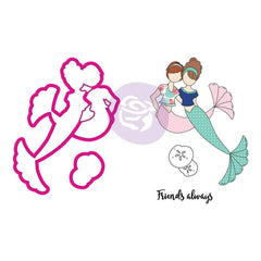 Prima Marketing - Julie Nutting Stamp & Die Set Mermaid Kisses Besties