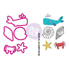 Prima Marketing - Julie Nutting Stamp & Die Set Mermaid Kisses Sea Life
