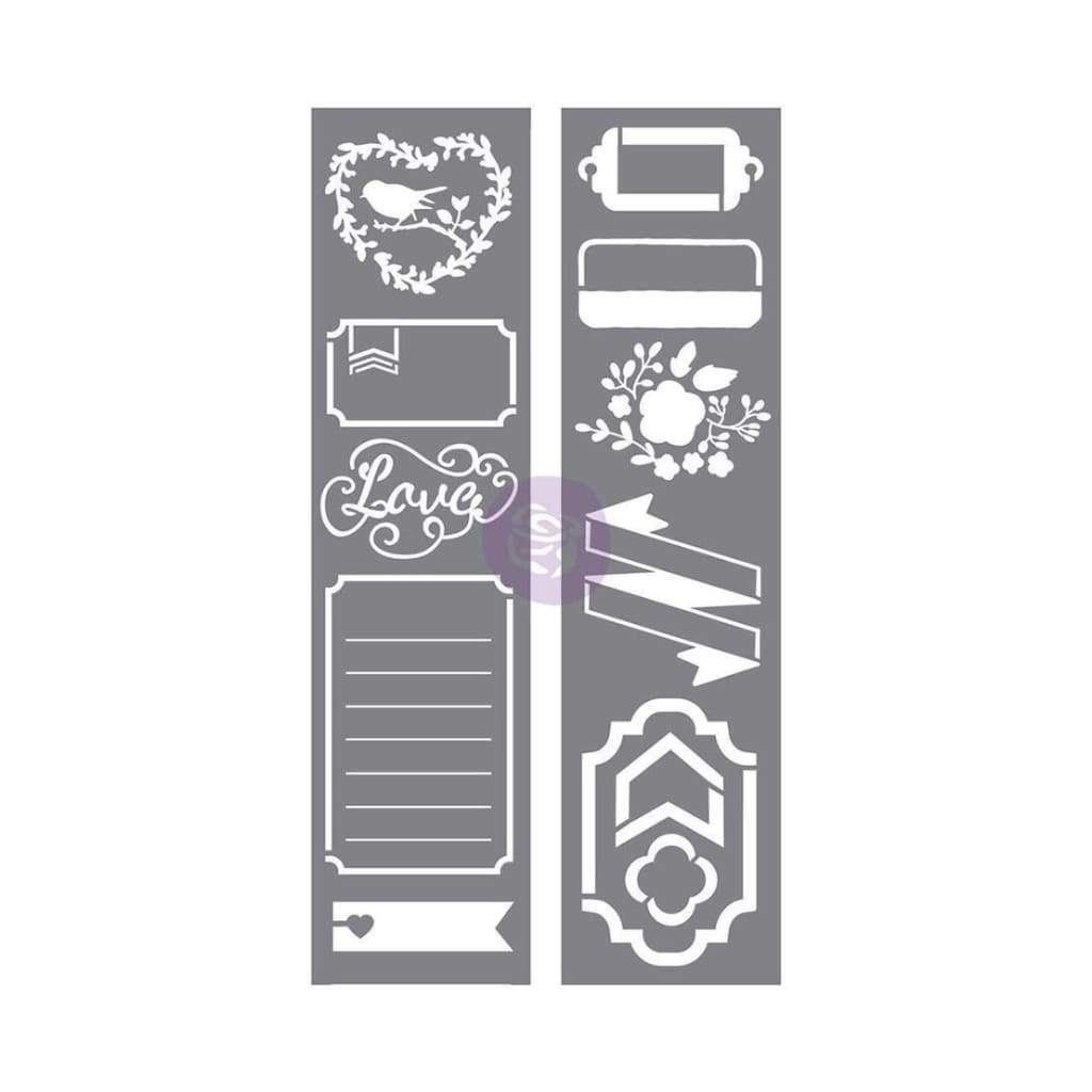 Prima Marketing - Prima Love, Faith, Scrap Planner Stencils 3 pack