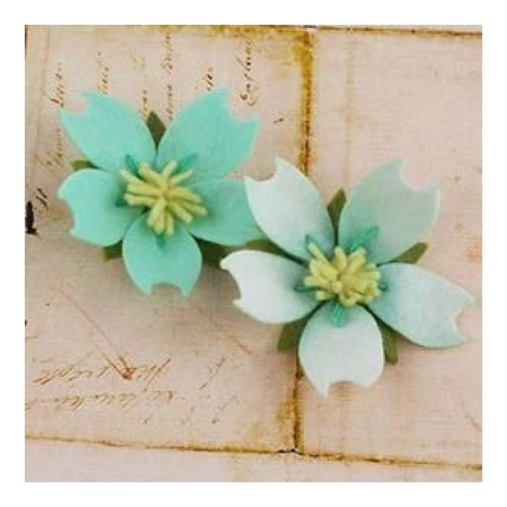 Prima Marketing - Merelle 2 Pack  Approx 3  Inches -  Teal Ice