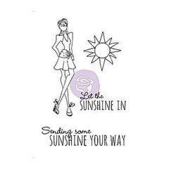 Prima Marketing - Mixed Media Doll Cling Rubber Stamps - Sunshine Set 4X6