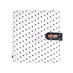 Prima Marketing - My Prima A5 Planner 9.375 inch X9.375 inch X2.625 inch Breathe - White with Black Dots