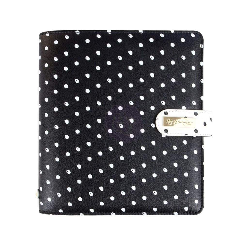 Prima Marketing - My Prima A5 Planner 9.375 inch X9.375 inch X2.625 inch In The Moment - Black with White Dots